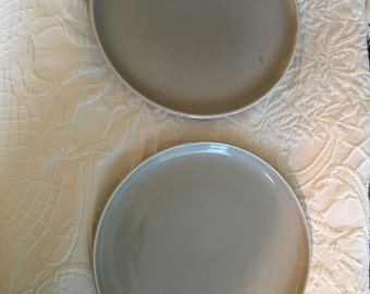 Russel Wright Steubenville Grey dinner plates