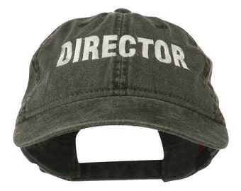 Director Embroidered Washed Cotton Cap