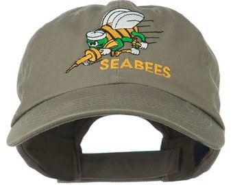 Seabees Embroidered Low Profile Washed Cap