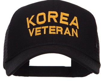 Korea Veteran Embroidered Mesh Cap