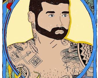 Jose Arcadio Character Print A3