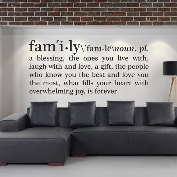Sticker mural d finition famille d finition du dictionnaire for Definition mural