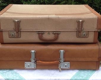 Gorgeous 1950s 'Revelation' Vintage Leather Suitcase
