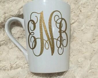 Monogrammed coffee mugs!