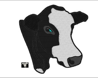 Black & White Angus Cow Embroidery Designs in 4 sizes