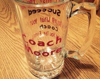 Coach beer glass