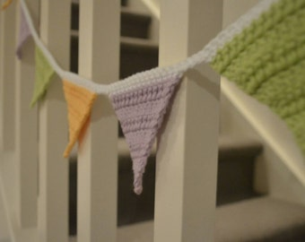 Pastel Crochet Triangle Bunting