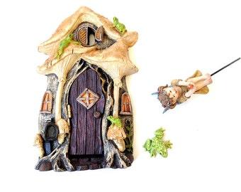 Fairy door, kit, fairy garden Valentine, fairy garden kit,  miniature supplies, fairy starter kit, woodland door, fairy garden miniature