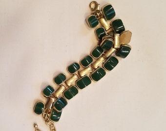 Vintage Green Bracelet - Bakelite?