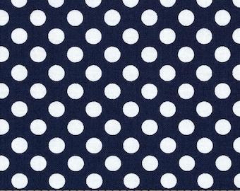 Spot on, Navy Polka Dot Fabric