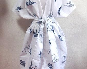 Japanese style dress/hand made/origami/summer dress/night wear