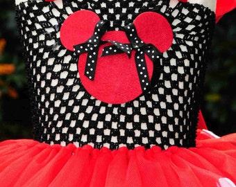 Minnie Mouse tutu dress with free headband