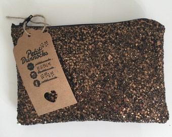 Chcolate brown glitter bag , evening clutch bag,  Glitter clutch bag, evening clutch bag, wedding clutch bag, prom clutch bag, gift for her