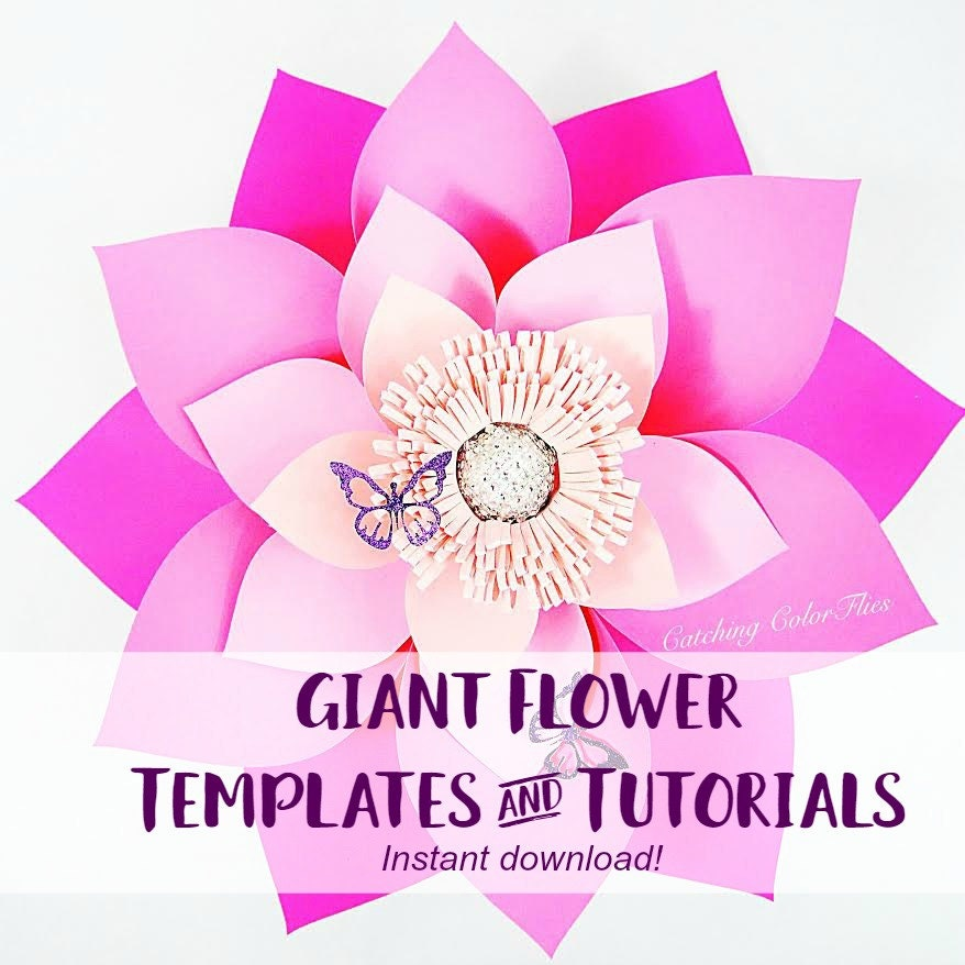 big flower paper template - giant paper flower template printable pdf templates video