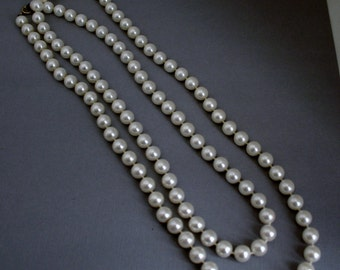 """47"""" Long Faux Pearl Necklace"""