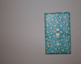 Flower Fabric Light Switch Cover