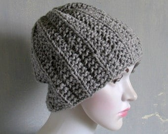 Slouchy Beanie Hat Knit Slouchy Hat Skull Cap Men Slouch Beanie Mens Slouch Beanie Knit Slouch Beanie Chunky Knit Hat Skull Cap Slouchy Hat