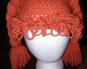Cabbage patch wig, cabbage patch, crochet cabbage patch wig, hats, wigs, kids hat, Cabbage Patch Halloween Costume, Halloween Costume