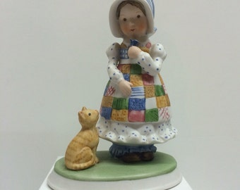 "Holly Hobbie ""Blue Girl"" Figurine"