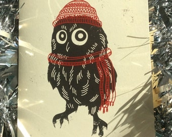 Owl Wish Hoot A Merry Christmas Card