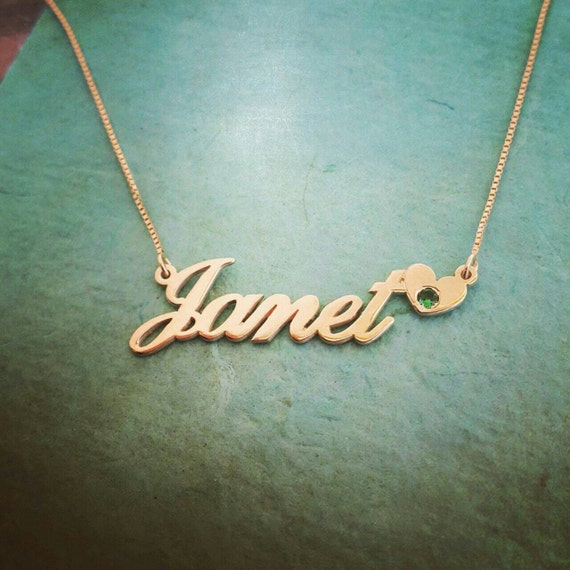 14k gold name necklace order any name janet style