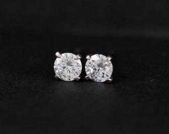 ON SALE* Faux diamond earrings, 4mm