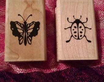 Butterfly & Ladybug Stamp Set