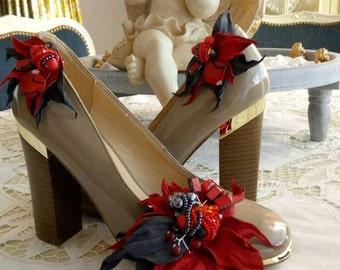 Leather shoe clip