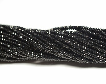 BLACK SPINEL faceted 3mm, Gemstone faceted Beads, Micro faceted