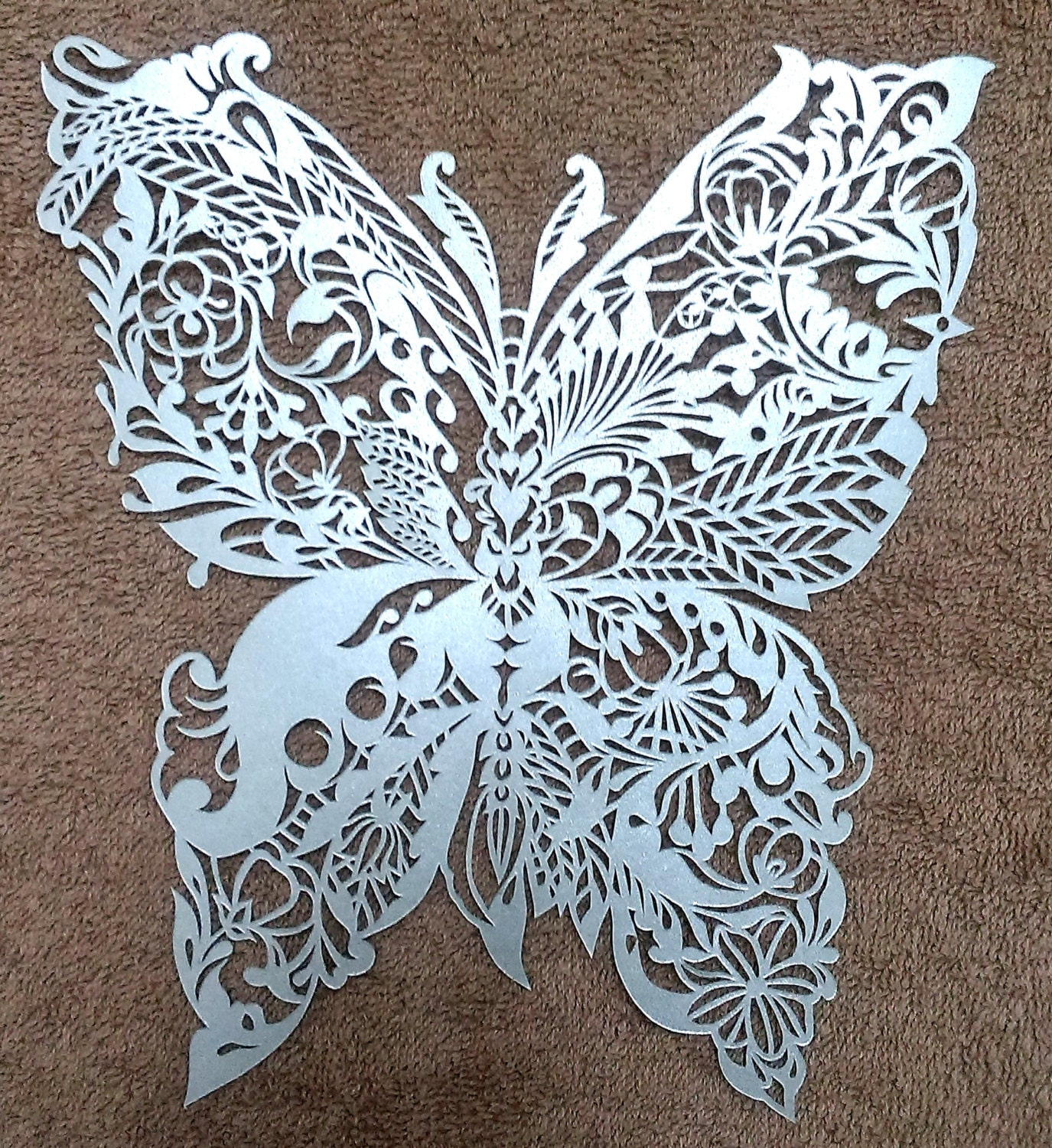 Butterfly paper cut butterfly paper art insect wall art for Paper art butterfly