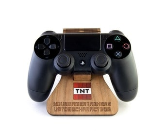 steuntje, Minecraft inspired PlayStation 4 controller stand, Steve, TNT, Enderman or Creeper