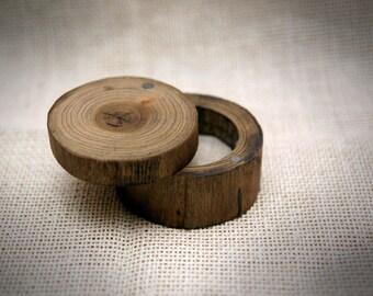 Wood ring box, Rustic ring box, Natural ring box, Wooden ring box, Wedding ring box, Engagement box, Proposal ring box