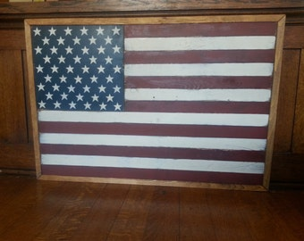 Americana Flag Plaque