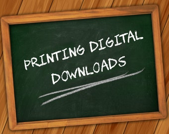 Optional Extra: Printing Digital Downloads