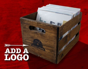 Stackable Vintage Record Crate - Holds 100 LP's