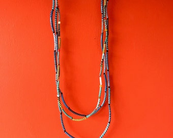 "Double necklaces ""Rainbow Zebra"""