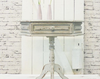 Sewing table Shabby Chic stoned grey