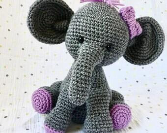 Baby Elephant- stuffed elephant- baby shower gift- new baby gift- nursery gift- plush toy-