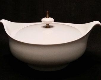 Mid Century Atomic Covered Dish, Danish, Retro, Vintage 1950, Casserole, Soup Tureen, 50's Kitchen