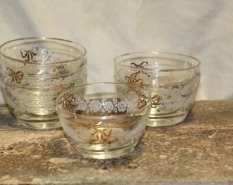 Vintage glass desert dishes