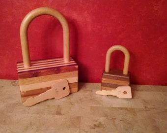 Large Wooden Lock
