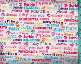 Barbie Words Fabric, Quilt Craft Home Decor