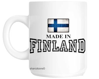 Made Born In Finland Birthday Gift Mug shan596
