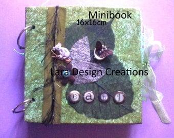 """""""Baby"""" photo album scrapbook handmade hand made"""