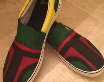 Hand Painted Boba Fett Shoes