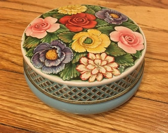 Vintage Floral English Toffee Tin