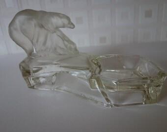 Crystal polar bears by pool/tray