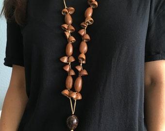 Brazilian exotic nut  necklace