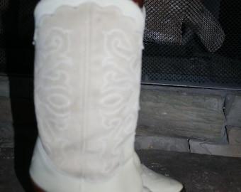 Vtg Zodiac Suede Cowboy Boots Size 7M