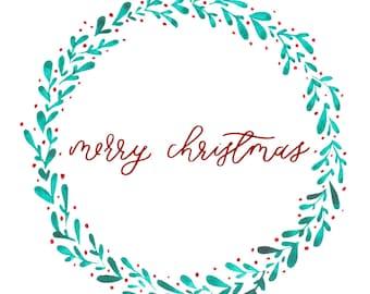 Downloadable Christmas Card Template (PNG + JPEG FILES)